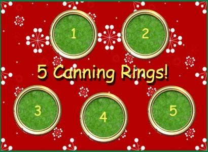 5 Canning Rings!